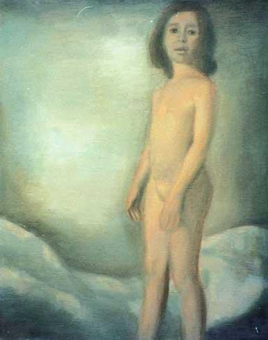 Цикл полотен 2001 года Татьяны Рауш. картины. Обнаженная девочка